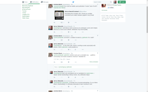 Screenshot of twitter conversation